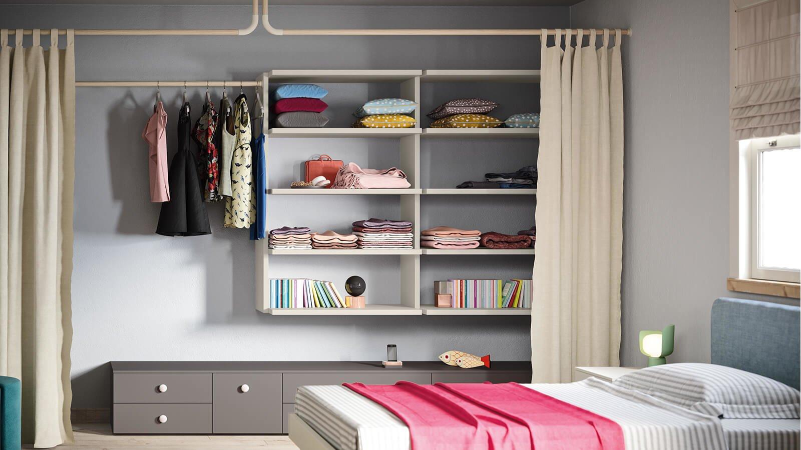 Cabine armadio per camerette per bambini e ragazzi - Nidi