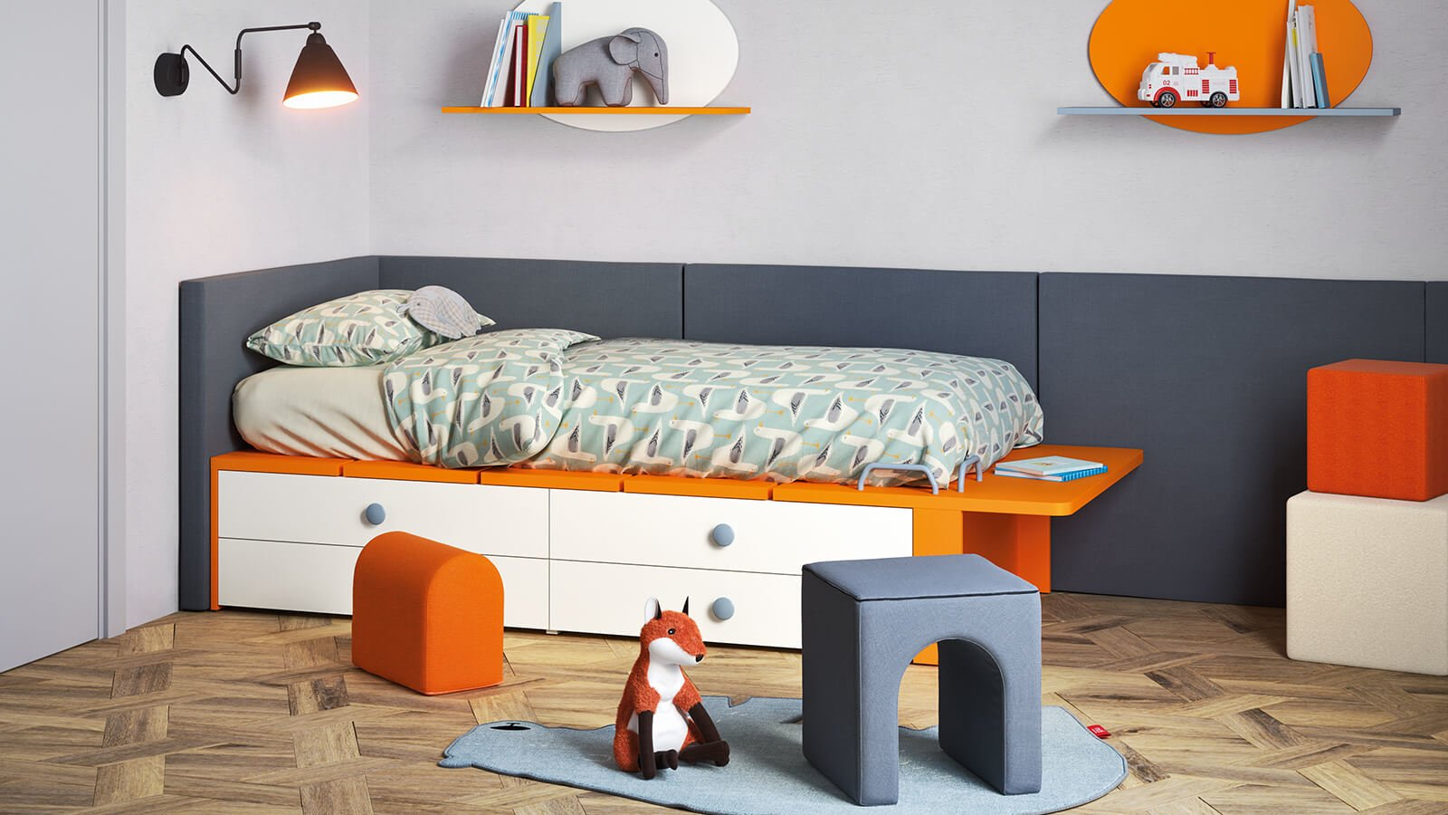 Raised And Trundle Beds For Kids Bedrooms Nidi