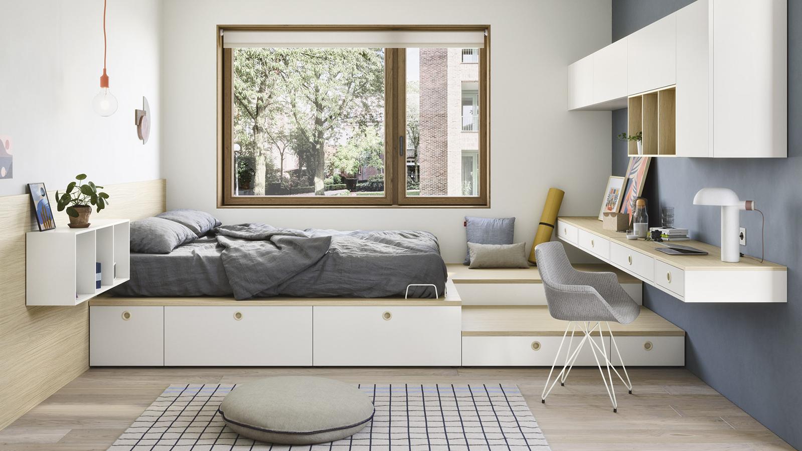 La stanza da letto delle nuove generazioni - Nidi Next su Elle Decor