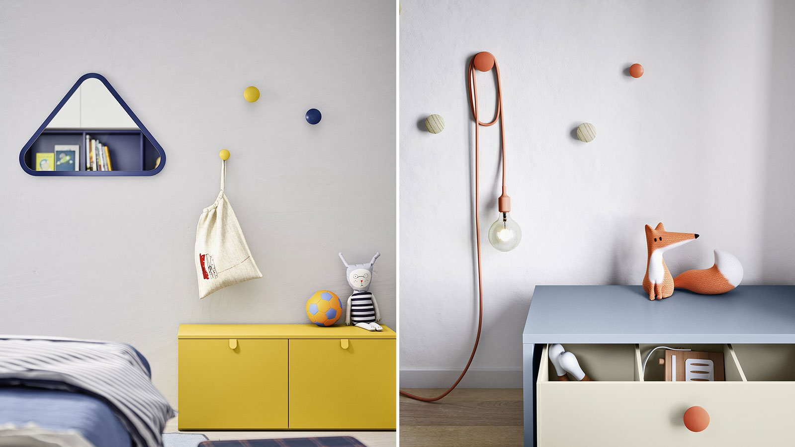 Woody clothes hanger knobs