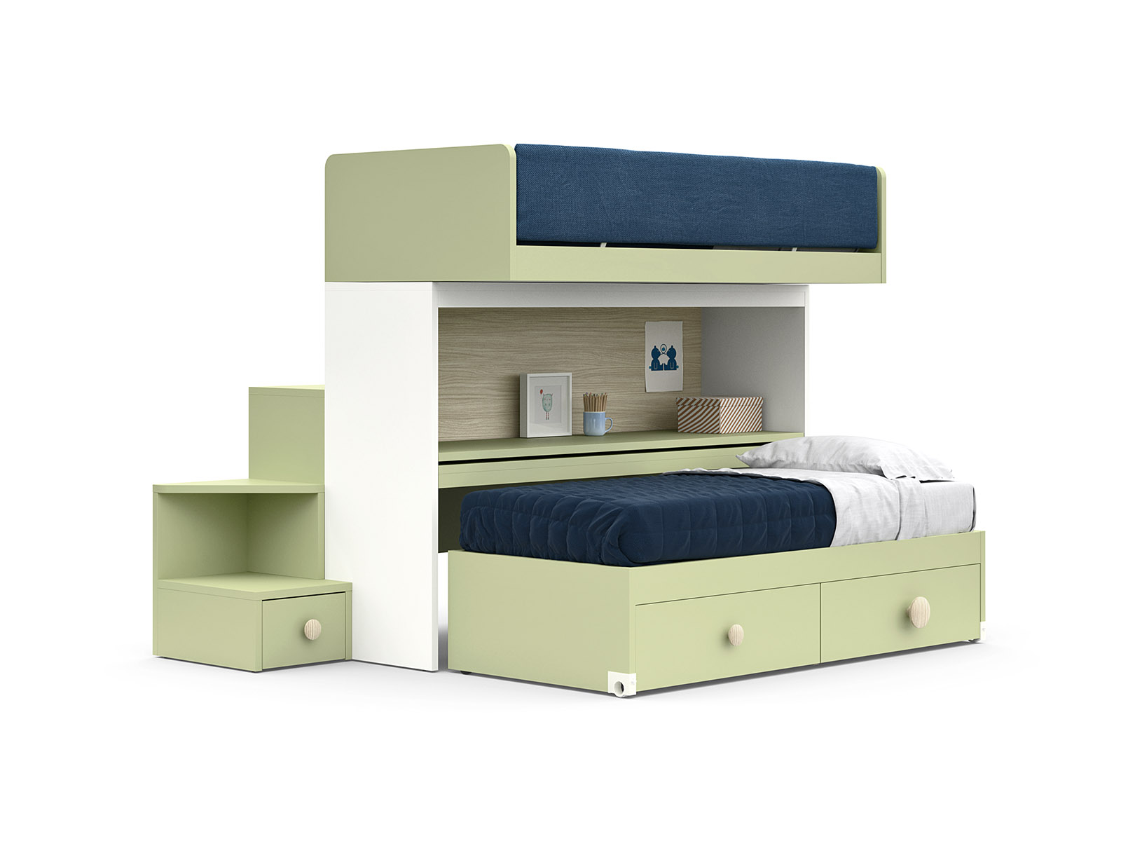 Picture of: Skid Sliding Bunk Bed Nidi