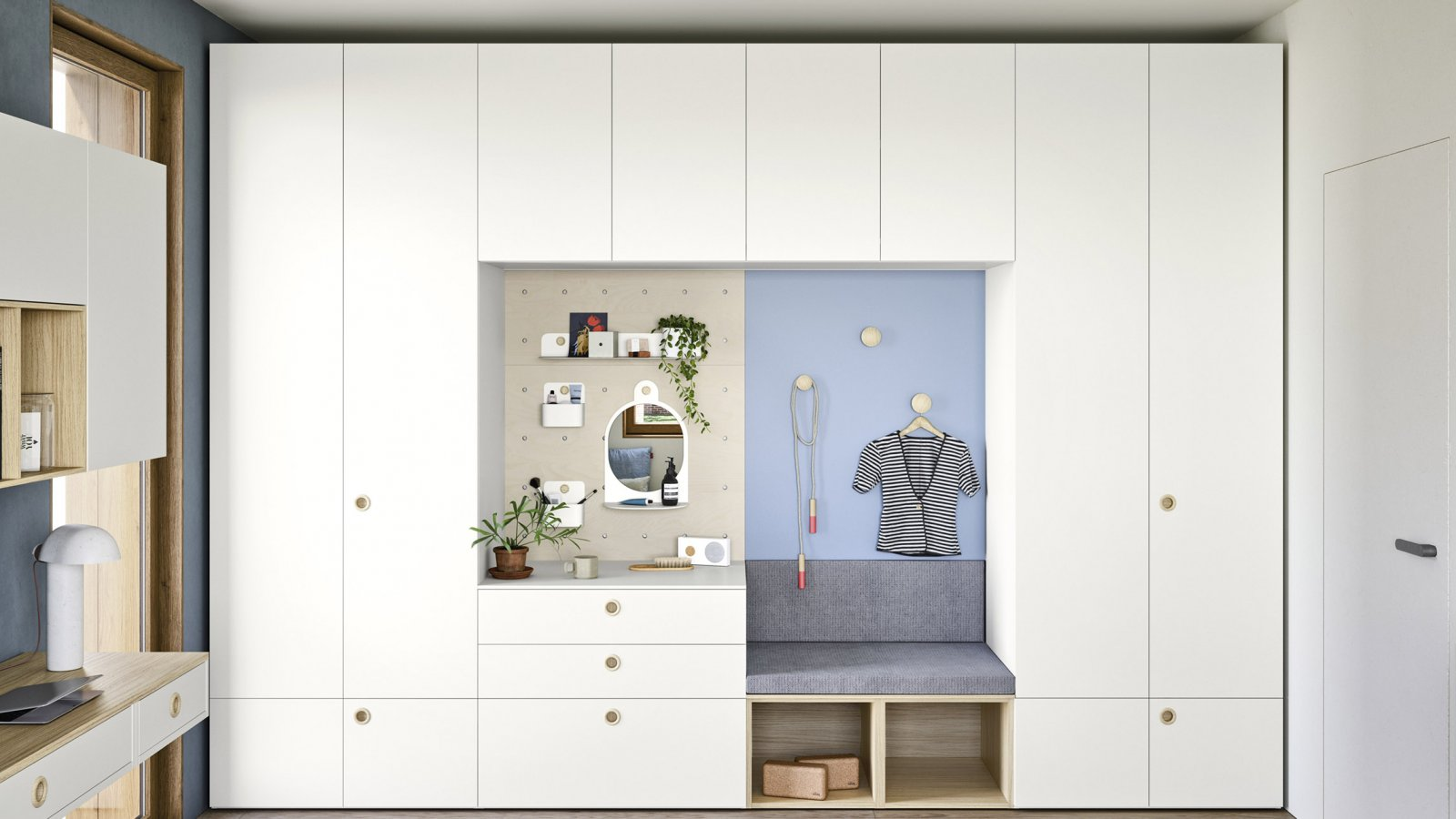 WARDROBE WITH HINGED DOOR