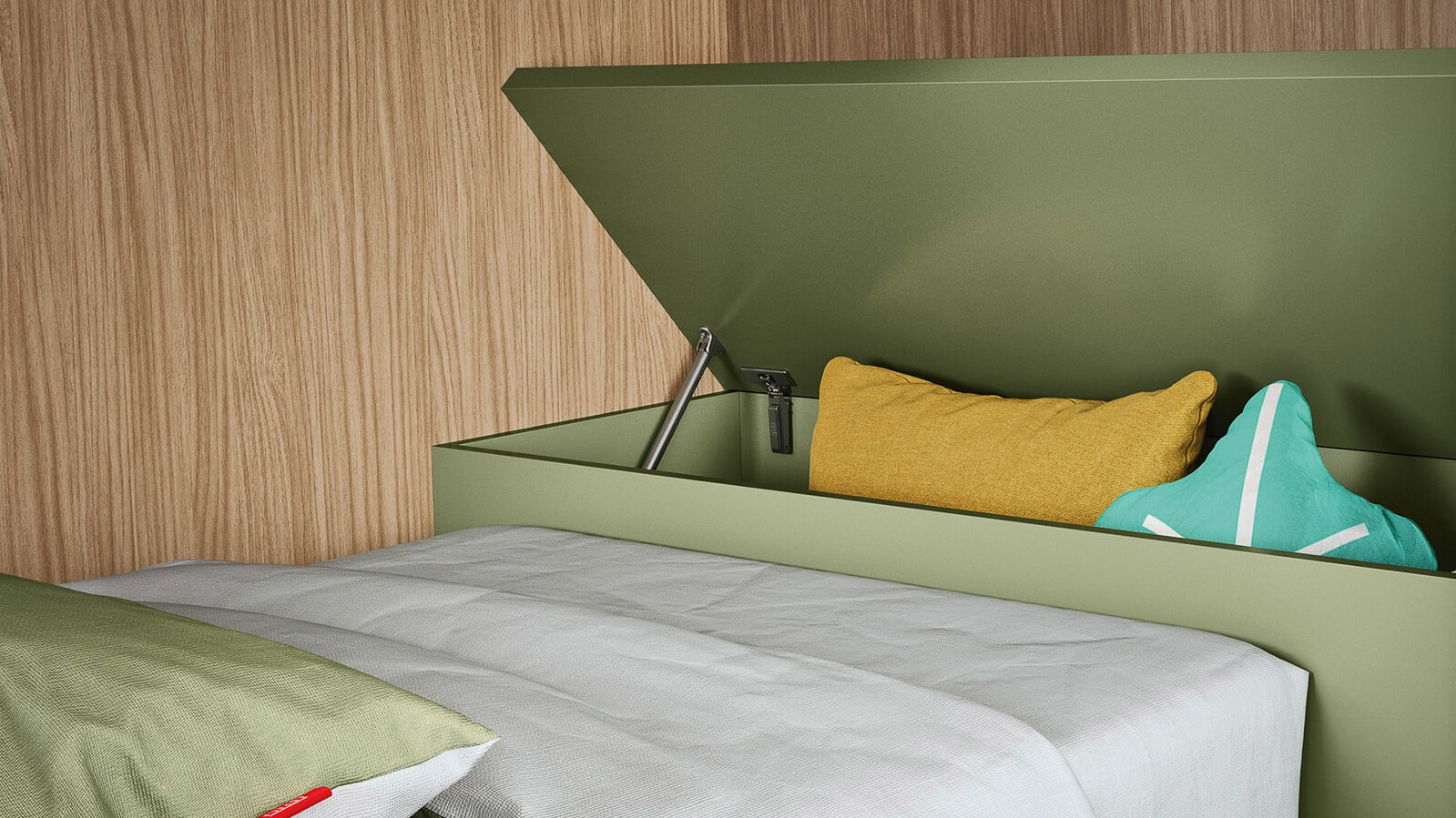 Rear-bed storage units