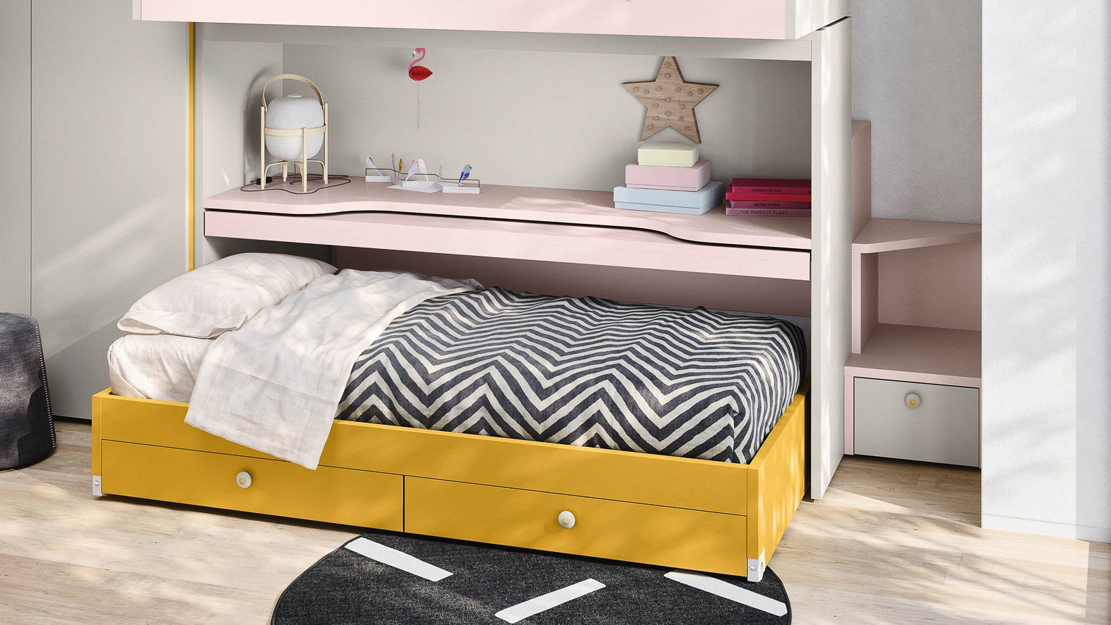 SKID sliding bunk bed