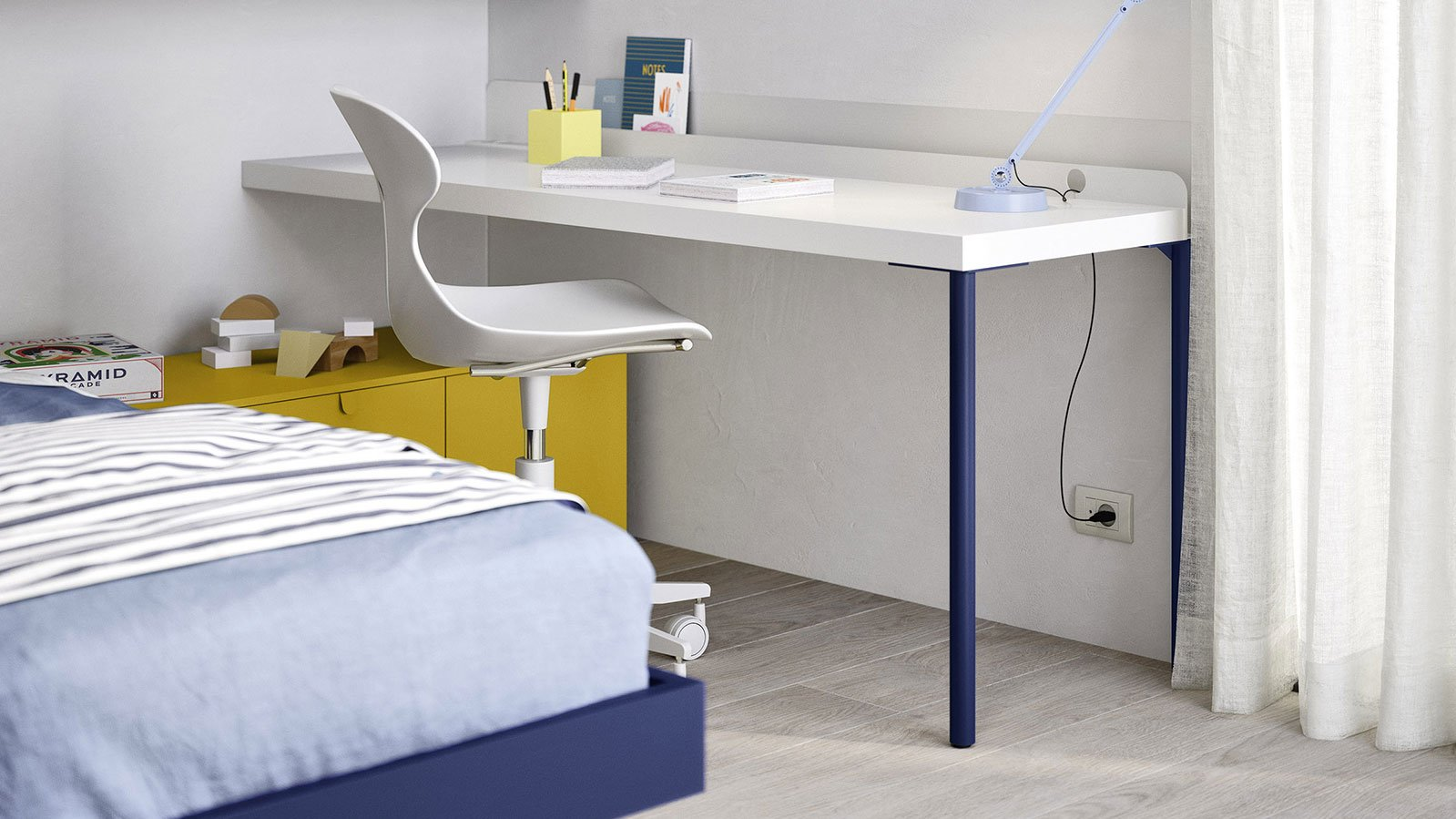 Desk with Poly legs