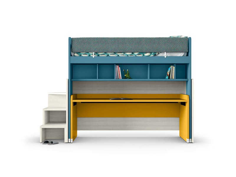 Shaped sliding desk