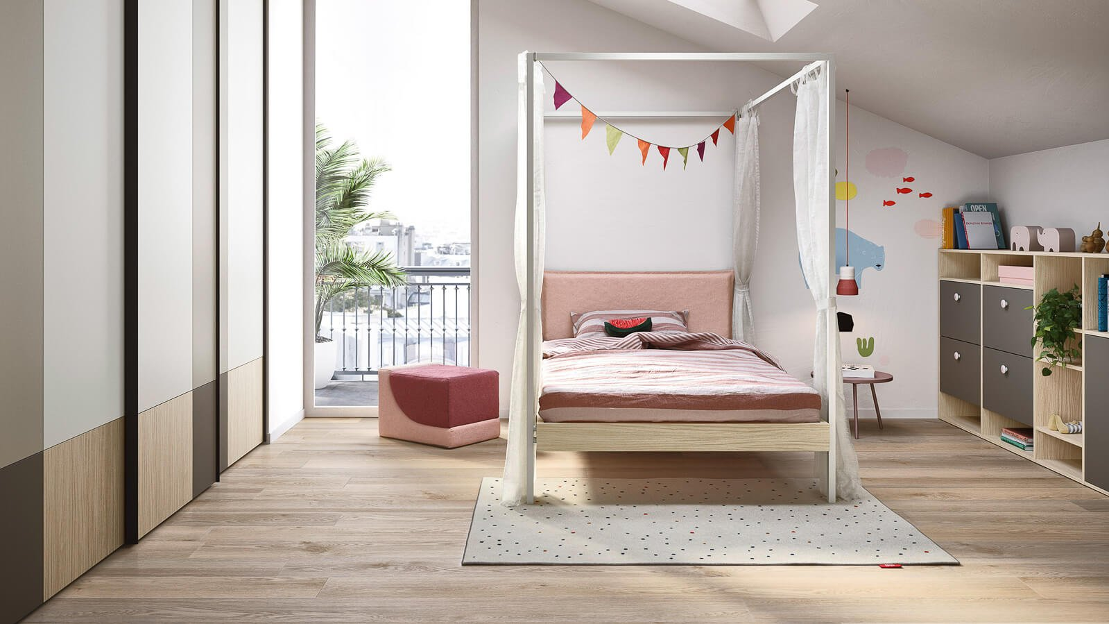 Kap four-poster bed
