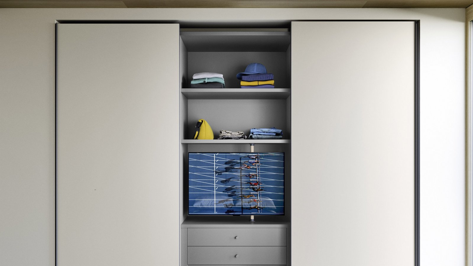 Wardrobe with Jack sliding door