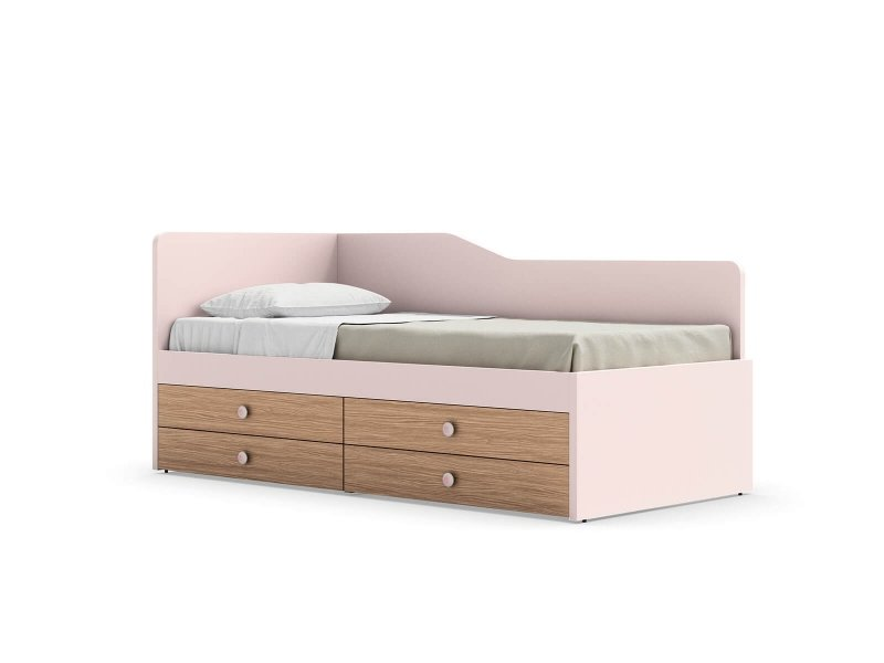 Equipped bed with Ergo back panel