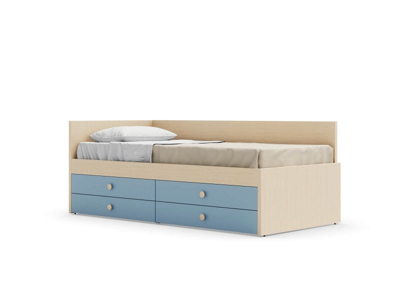 Equipped bed with Nuk back panel