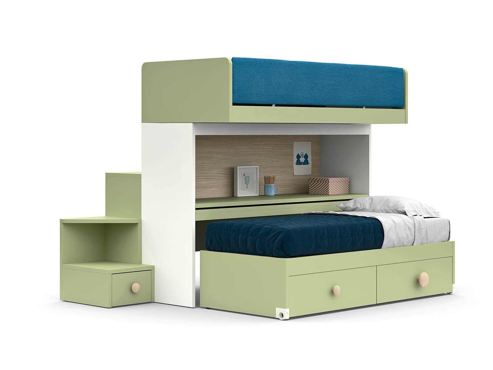 SKID sliding bunk bed