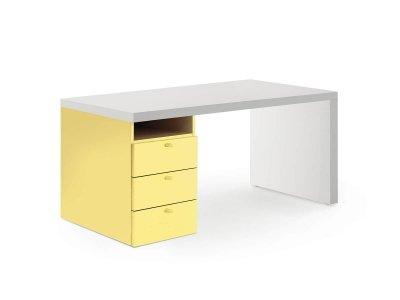 Bureau avec caisson à tiroirs