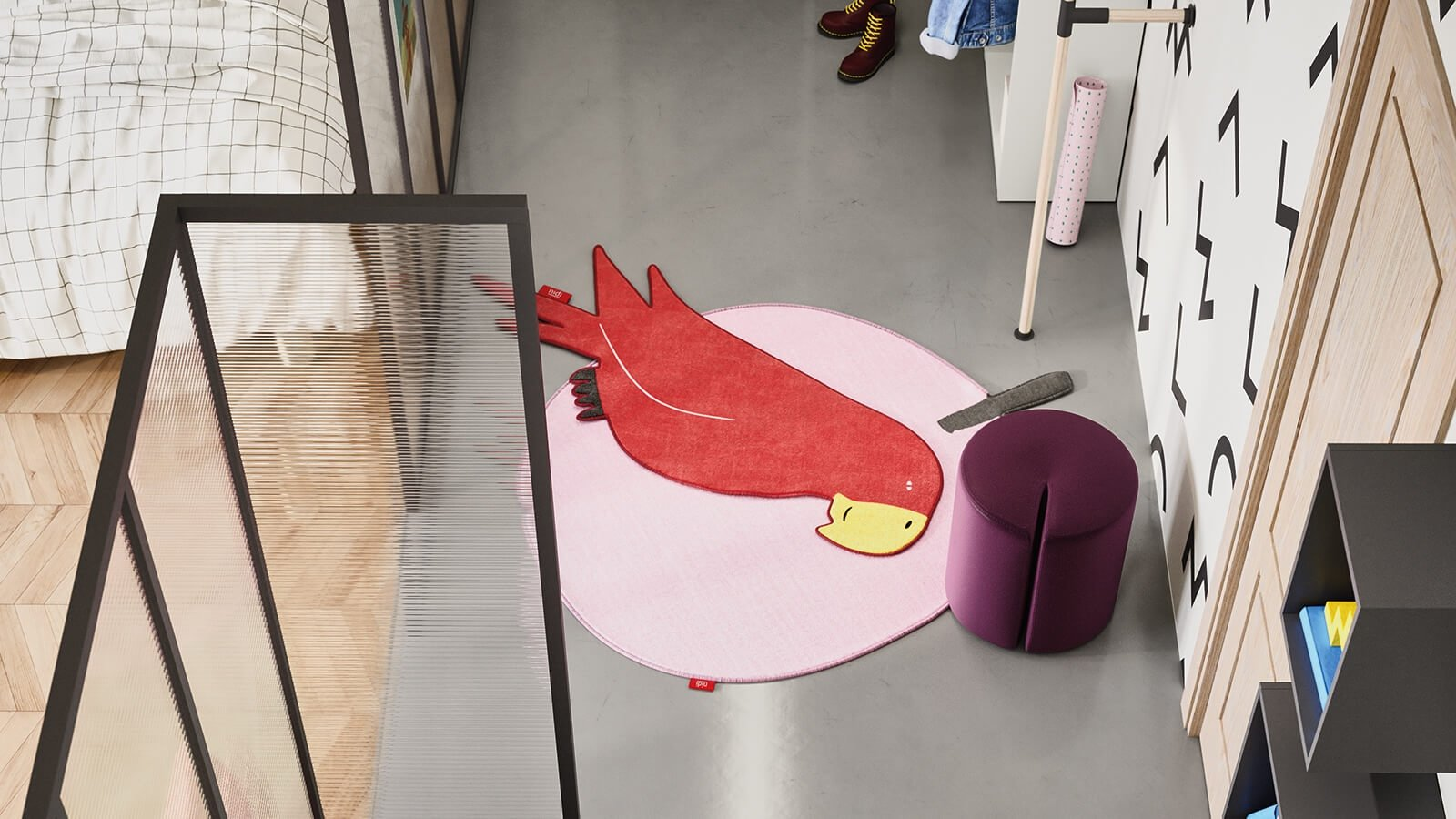 Parrot rug