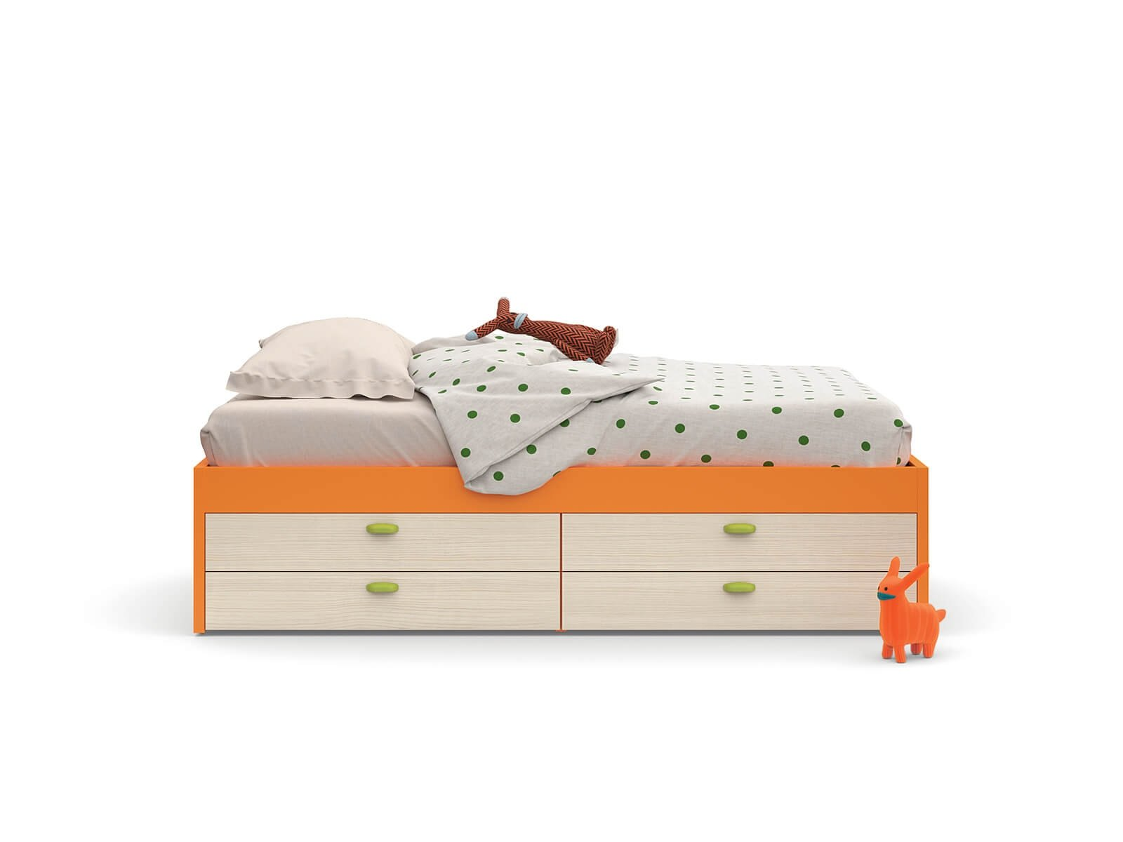 Equipped platform bed