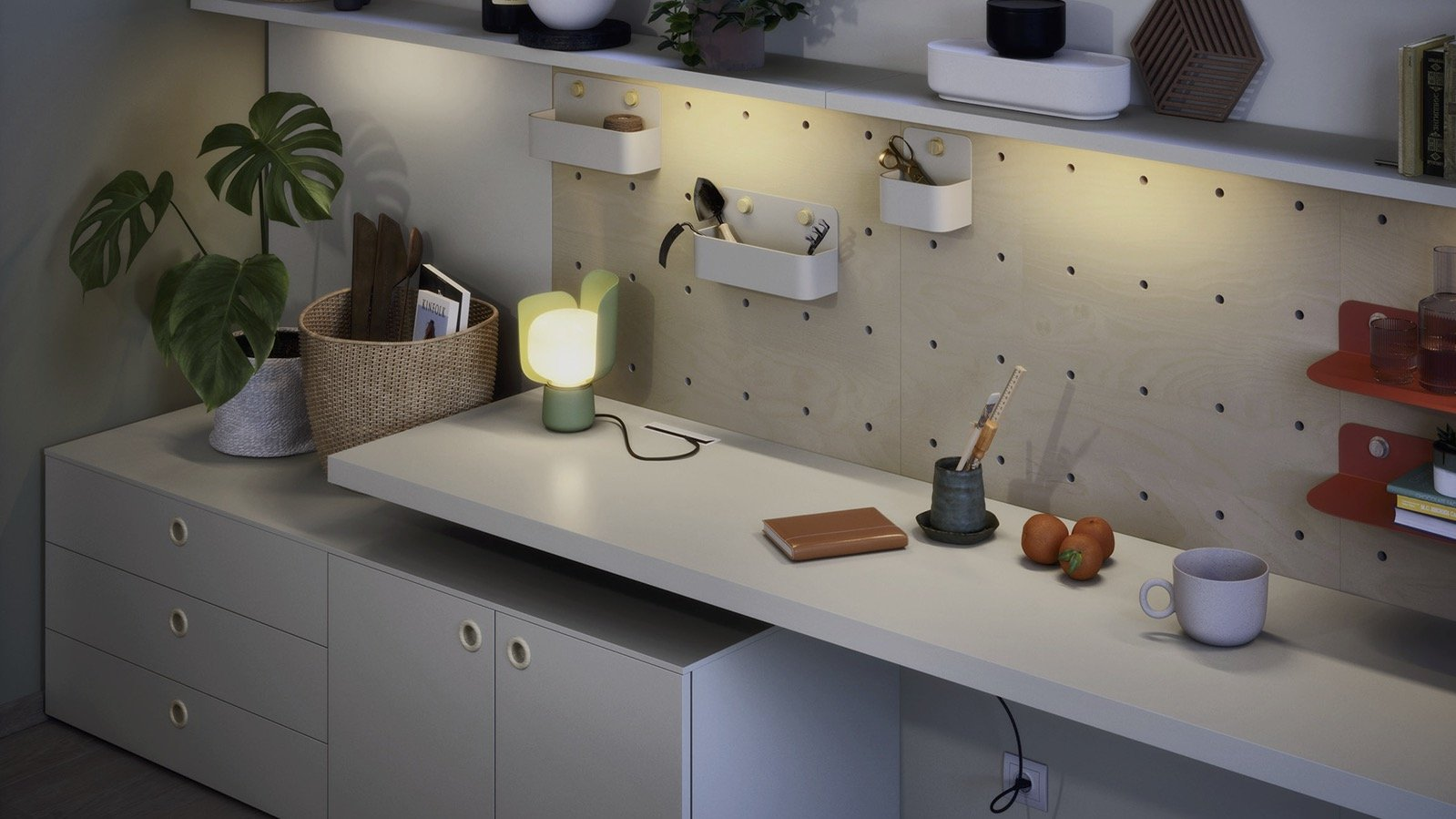 DOTS WALL PANELLING WITH ACCESSORIES